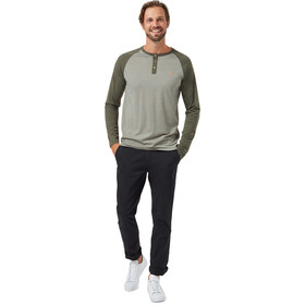 tentree Henley Classic T-shirt Manches longues Homme, vetiver green heather/olive night green heather